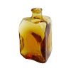 Amber Lab Glass Triangular Medicine or Potion Bottle