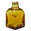 Amber Lab Glass Iodine Medicine or Potion Bottle Sq