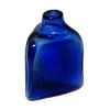 Cobalt Blue Glass Triangular Medicine or Potion Bottle