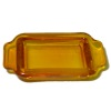 Amber Glass Casserole Baking Pan