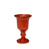 Ruby Red Fluted Wine Goblet