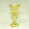 Golden Yellow Fluted Wine Goblet