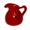 Handcrafted Ruby Red Glass Pitcher