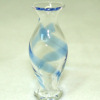 Handcrafted Blue Swirl Classic Pedestal Glass Vase