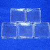 Five Miniature Glass Building Blocks