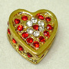 Opening Ruby Heart Jewelry Box