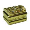 Opening Rhinestone Jeweled Gold Metal Pirate Treasure Chest