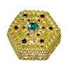 Opening Jeweled Golden Jewelry Box