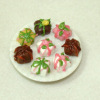 Handcrafted Floral Design Petit Four Glaces