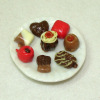 Handcrafted Plate of Holiday Chocolates
