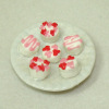 Handcrafted Plate of Valentine Petit Four Glaces