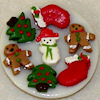 Handcrafted Christmas Cookies on a Plate