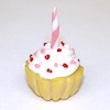 Birthday Party Cupcake Shape Cake with Candle