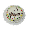 Handcrafted Music Theme Happy Birthday Cake