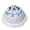Hand Crafted Winter Let It Snow Polar Bear Cake
