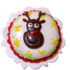 Handcrafted Rudolph the Reindeer Christmas Cake