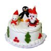 Handcrafted Christmas Santa Snowman Penguin Cake