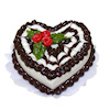 Handcrafted Valentine Chocolate Heart Cake