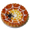 Handcrafted Halloween Spider Web Pie