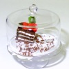 Last Piece of Cake on a Glass Cake Plate Stand