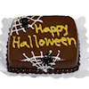 Handcrafted Happy Halloween Spider Web Cake