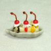 Banana Split Ice Cream Sundae with Cherries