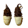 Pair of Chocolate Soft Serve Ice Cream Cones