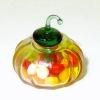 Candy Filled Small Glass Halloween Pumpkin With Lid