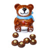 Bear Cookie Jar With Bear Paw Cookies