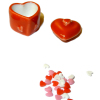 Large Covered Ceramic Heart Shaped Candy Jar With Heart Candies