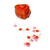 Small Covered Ceramic Heart Shaped Candy Jar With Heart Candies