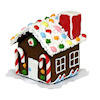 Handcrafted Christmas Gingerbread House with Gumdrop Roof