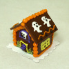 Handcrafted Halloween Ghosts Gingerbread Haunted House