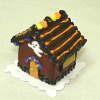 Handcrafted Halloween Ghost Gingerbread Haunted House