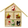 Handcrafted Christmas Collection in a Wood Shadowbox