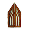 Gothic Mirrored Halloween Triptych Church Cabinet