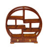 Asian Carved Wood Curio Shelf with Drawers