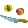 Sliced Peach with Knife