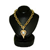 Miniature Don Henry 10k Gold Aquamarine Heart Pendant