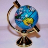 Small Rotating World Globe