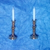 Gold Metal Candlestick Set