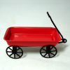 Little Red Wagon with Black Wheels