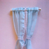 Hand Crafted Powder Blue Demi Tie Back Curtains