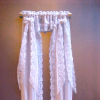Hand Crafted Full Length White Victorian Priscilla Curtains