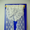 Hand Crafted Full Length White Lace Single Window Drape