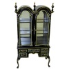 Bespaq Queen Anne Hand Carved and Painted Display Case