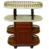 Bespaq Four Tier Walnut Pastry Bar with Marbled Tops
