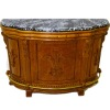 Bespaq Pub Counter Carved Walnut with Marbled Top