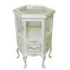 Bespaq Handpainted White Emporium Six Sided Showcase