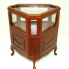 Bespaq Walnut and Glass Emporium Store Corner Display Case